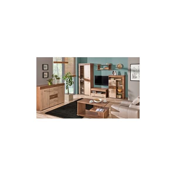 Moderní dvoubarevná obývací stěna Harmony 6