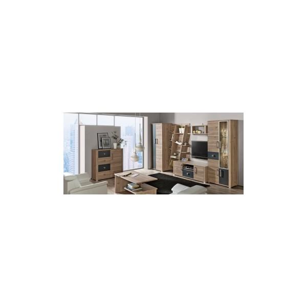 Elegantní obývací stěna Diandra 1 v dvoubarevném provedení