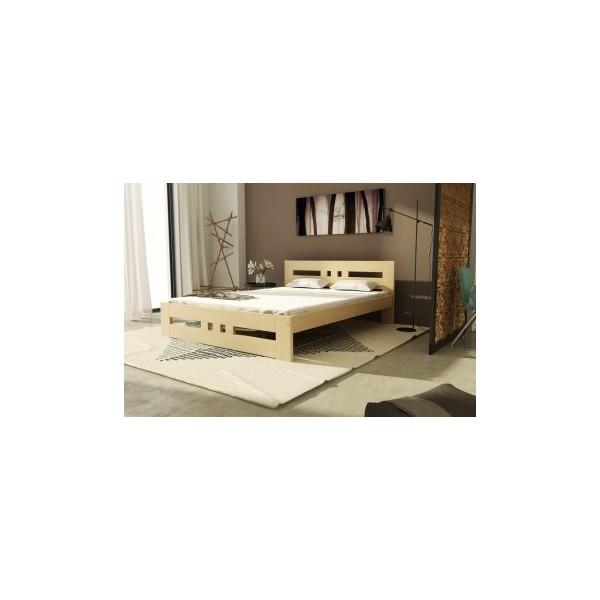 Manželská postel z masivu Haydel