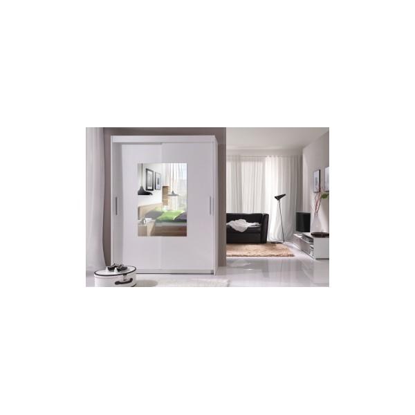Skříň s posuvnými dveřmi Alexis a zrcadlem