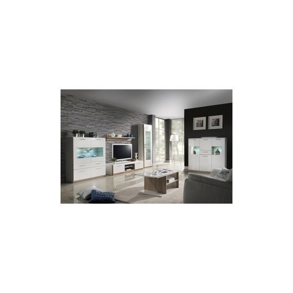 Obývací stěna Mareta 1 - bílý lesk