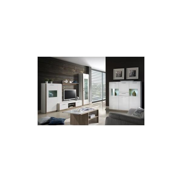 Obývací stěna Mareta 3 - bílý lesk