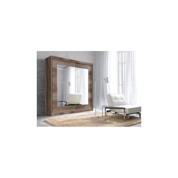 Zrcadlová šatní skříň s posuvnými dveřmi Gerardo 1