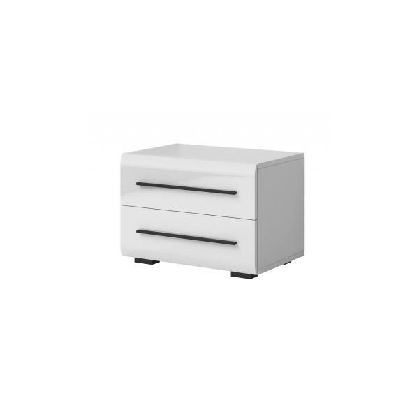 Bílý noční stolek Serina