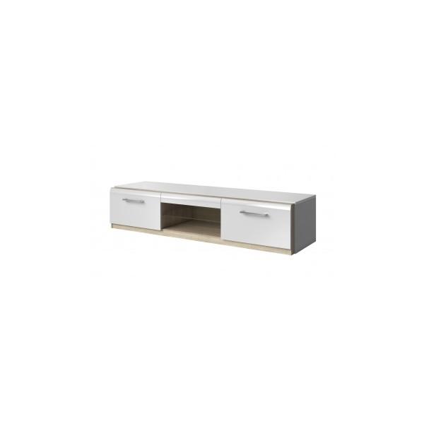 Televizní stolek Mareta 1 - bílý lesk