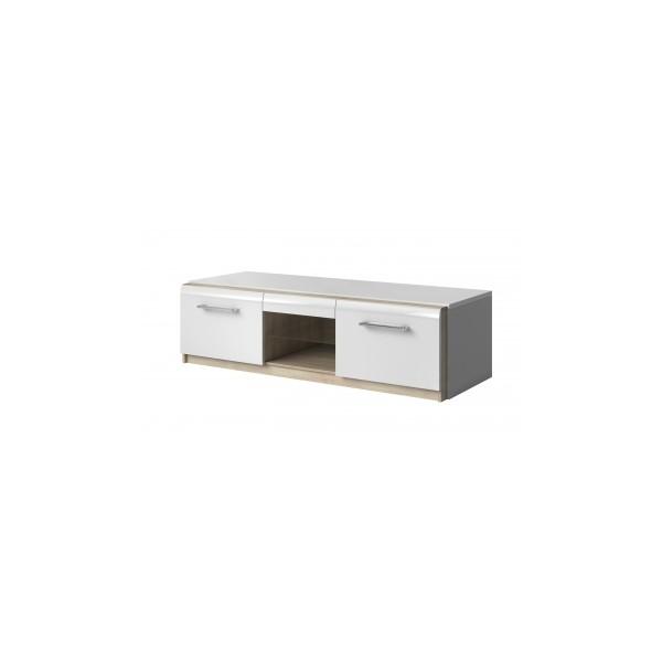 Televizní stolek Mareta 2 - bílý lesk