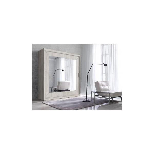 Zrcadlová šatní skříň s posuvnými dveřmi Gerardo 2