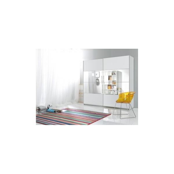 Zrcadlová šatní skříň s posuvnými dveřmi Donetis