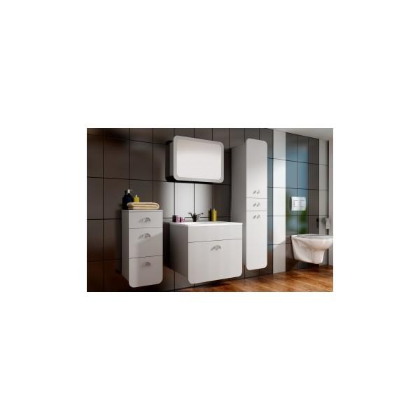 Bílý koupelnový set Raila