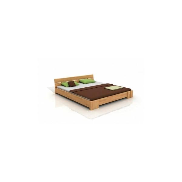 Manželská postel z bukového dřeva Torkel