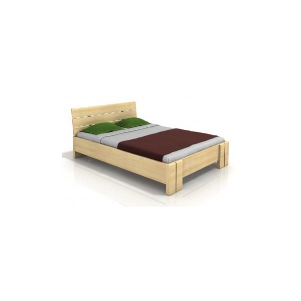 Dřevěná postel s vysokým čelem Ulrik