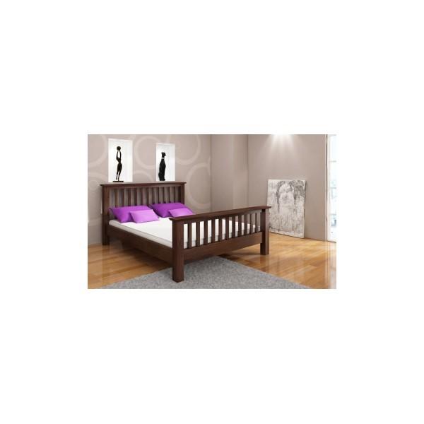 Luxusní postel Inger z masivu borovice