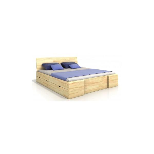 Manželská postel Visa 6 - masiv borovice
