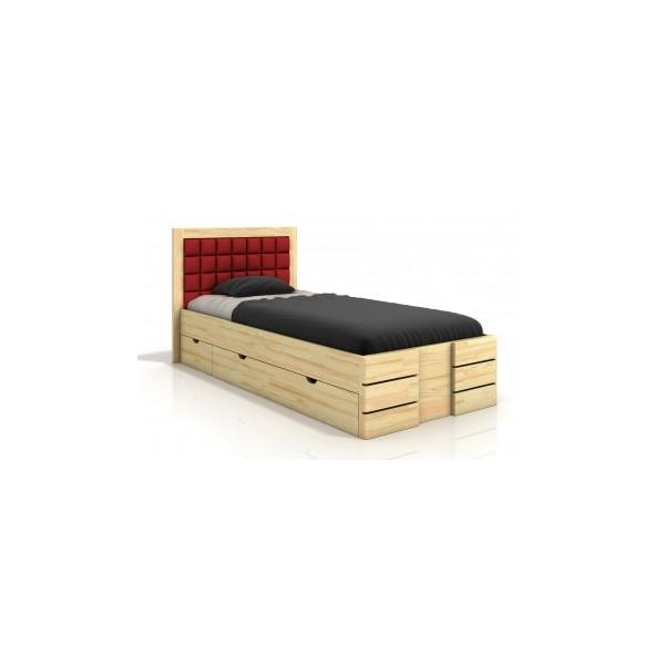 Dřevěná postel Erland 7 s úložným prostorem