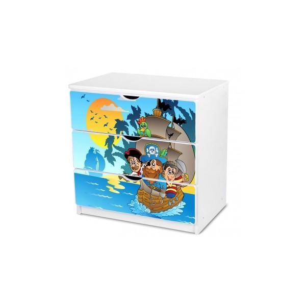 Dětská šuplíková komoda s Piráty