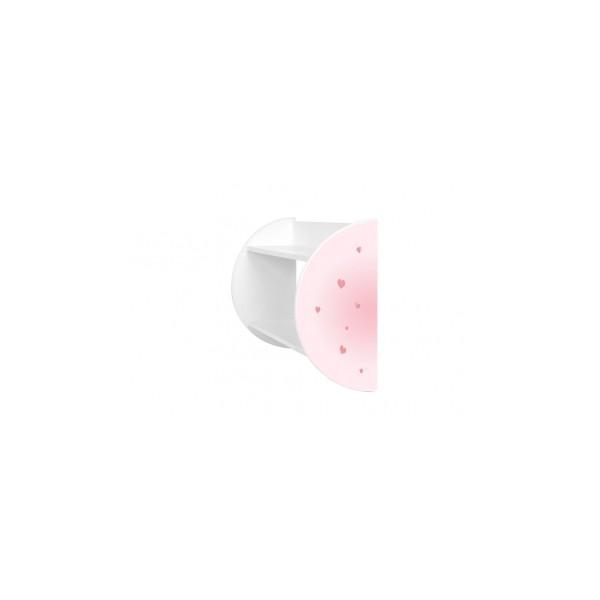 Police pro holčičí pokoj s motivem růžových srdcí