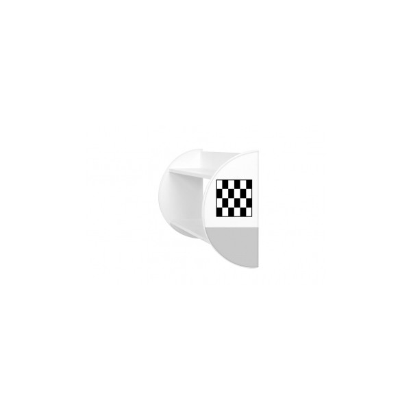Originální dětská police s motivem závodní vlajky