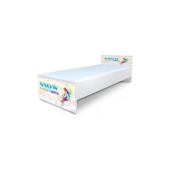 Jednolůžková dětská postel s motivem Snowboard