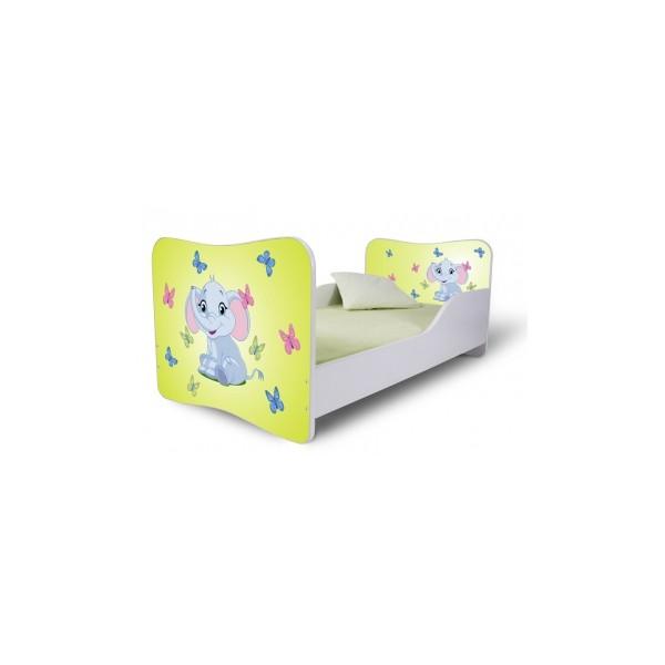 Dětská postel se zábranami Sloník