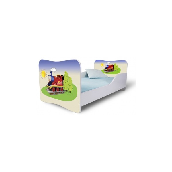 Dětská postel s motivem Lokomotivy