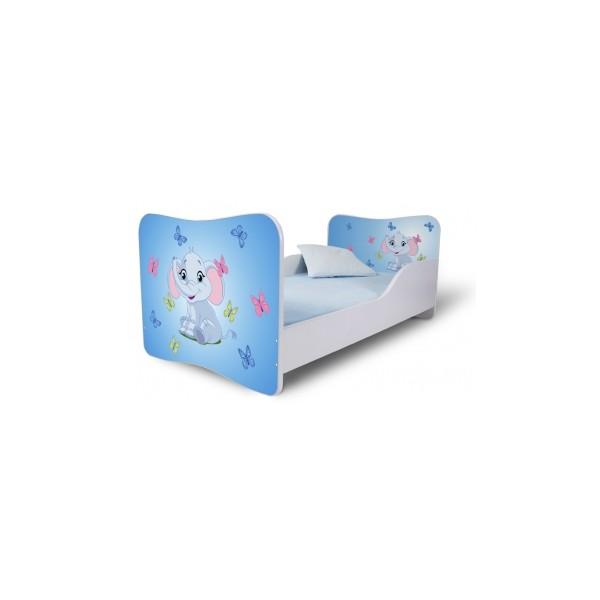 Dětská postel s modrým sloníkem