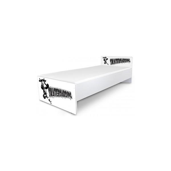Jednolůžková dětská postel s motivem Scateboardu