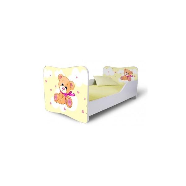 Dětská postel se žlutým medvídkem