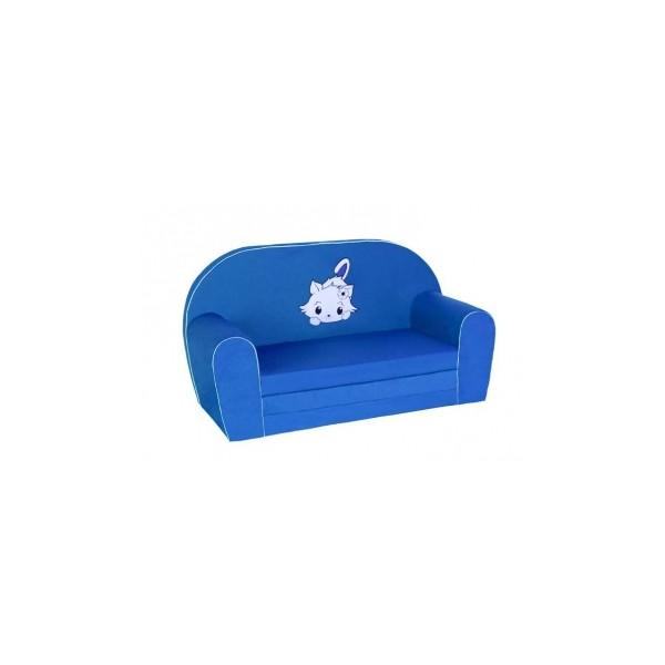Rozkládací pohovka pro děti – modrá