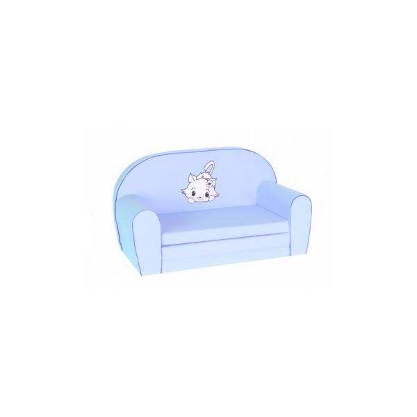 Bledě modrá rozkládací pohovka pro děti