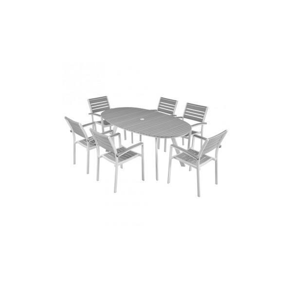 Zahradní set Efrem 3 - bílá / šedá