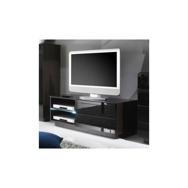 Černý televizní stolek Astor 2