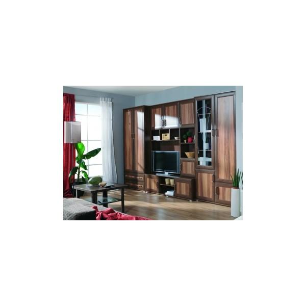 Klasická obývací stěna Rogelio – provedení dub královský / havana