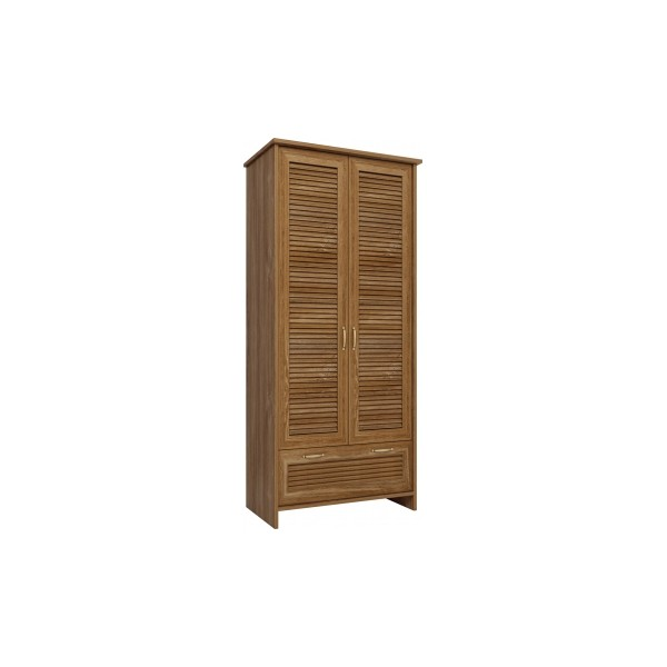 Dvoudveřová skříň Cintia s šatní tyčí