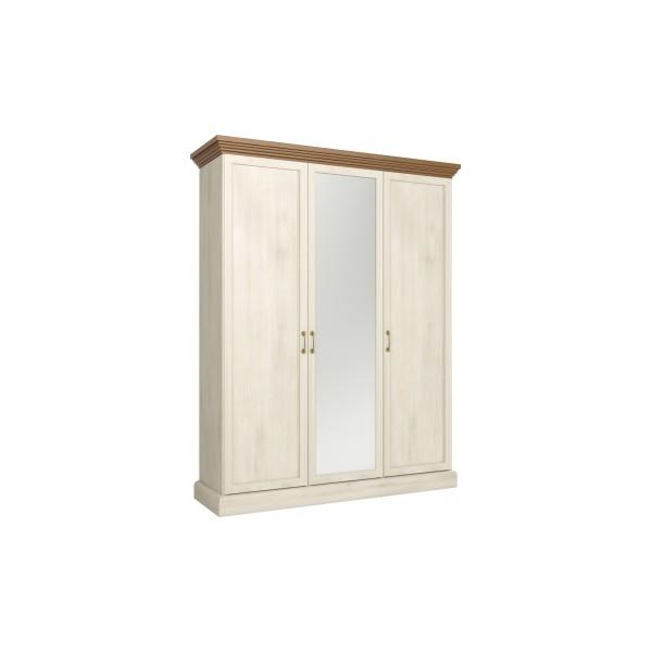 Třídveřová šatní skříň se zrcadlem Meryl 3