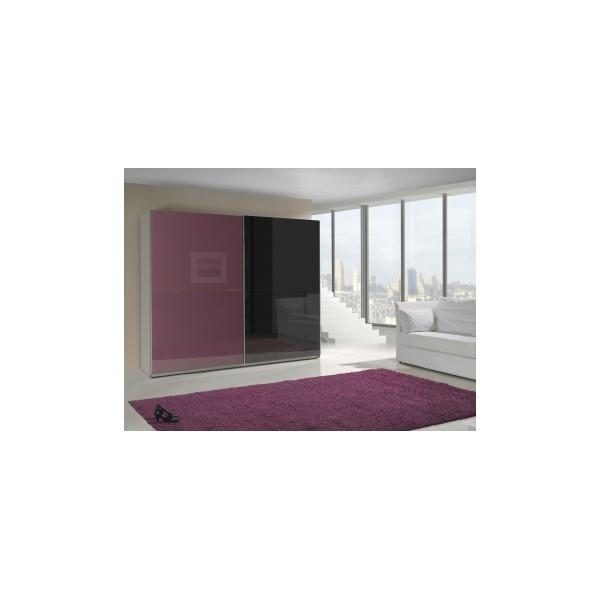 Dvoubarevná šatní skříň s posuvnými dveřmi Darvin 8