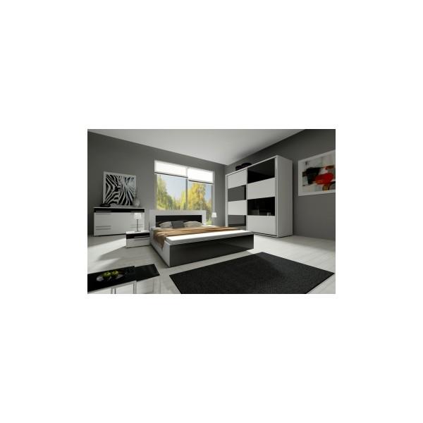 Černobílá ložnice - sestava Amabel 2