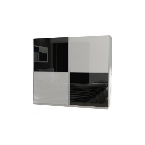 Moderní šatní skříň s posuvnými dveřmi Krystal