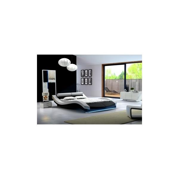 Moderní dvojlůžková postel Alvina