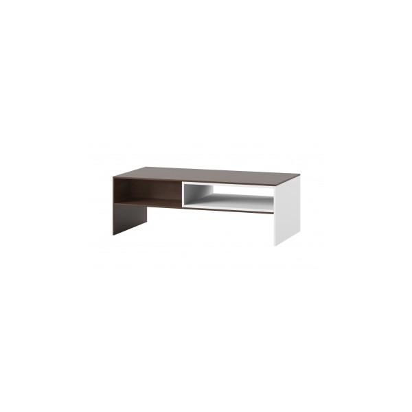 Konferenční stolek Lofera - bílá / višeň malaga