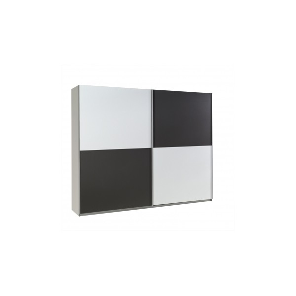 Šatní skříň z lamina Darvin 21 v kombinaci bílá / grafit