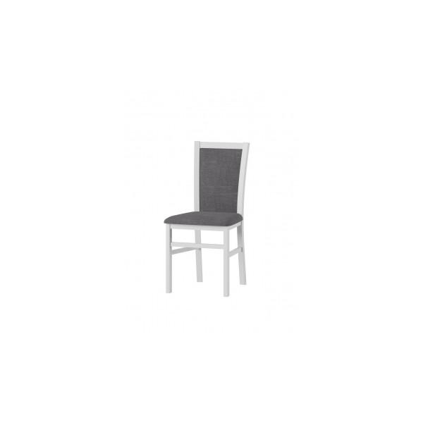 Čalouněná jídelní židle z masivu Gladis 2 - bílý mat