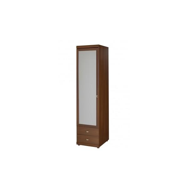 Úzká policová šatní skříň se zrcadlem Madelin 2