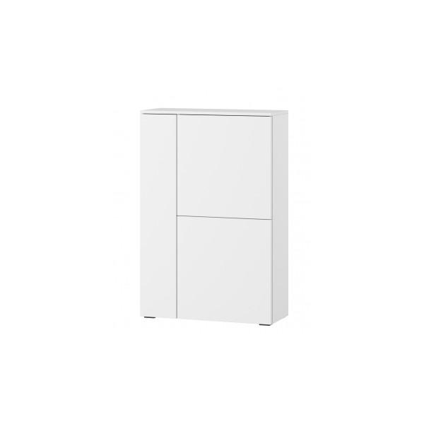 Závěsná skříňka Lofera 1 - bílá / bílý lesk