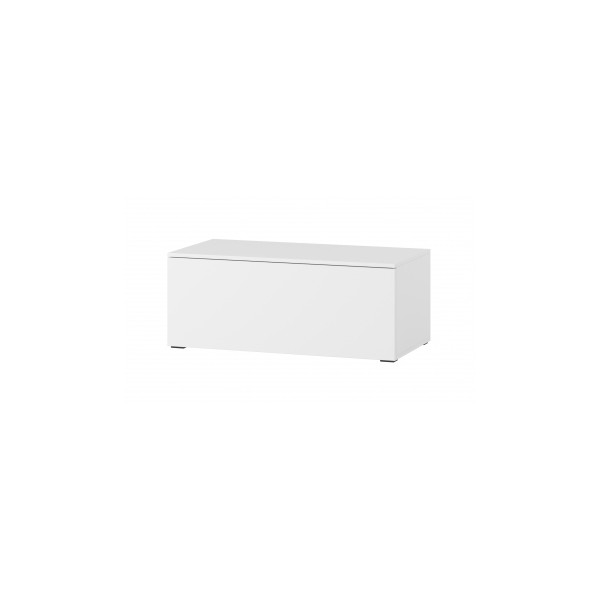 Televizní stolek Lofera 2 - bílá / bílý lesk