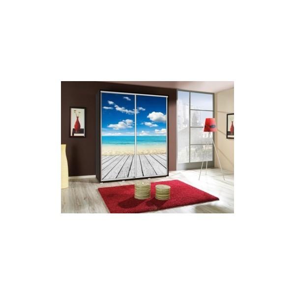 Šatní skříň s obrázkem pláže Penelopa 8