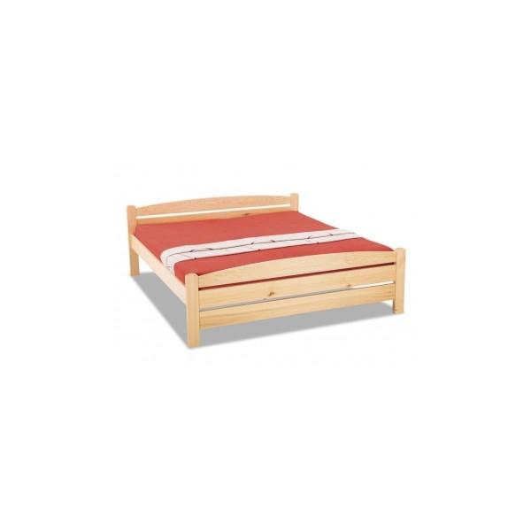 Dvoulůžková postel z masivu Radmila