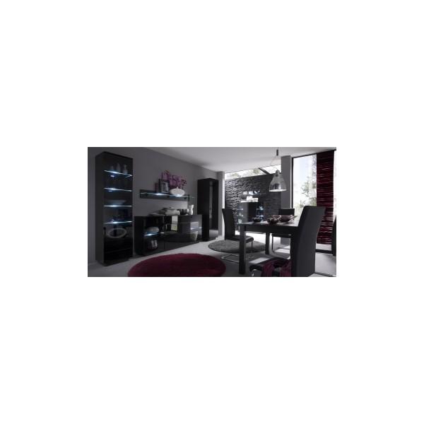 Moderní obývací sestava Astor 3 – wenge / černé sklo