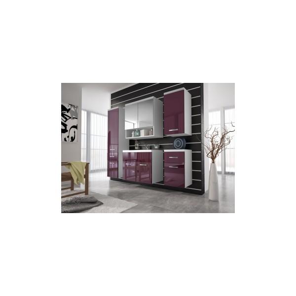 Nábytek do koupelny Horace 2 - bílá / fialový lesk