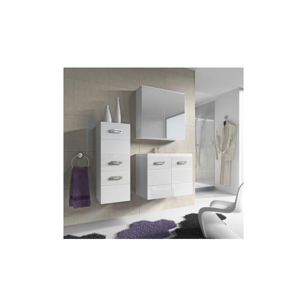Nadčasová koupelna Demario - bílá / bílý lesk