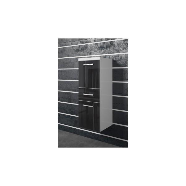 Koupelnová skříňka Horace 1 - bílá / černý ořech lesk